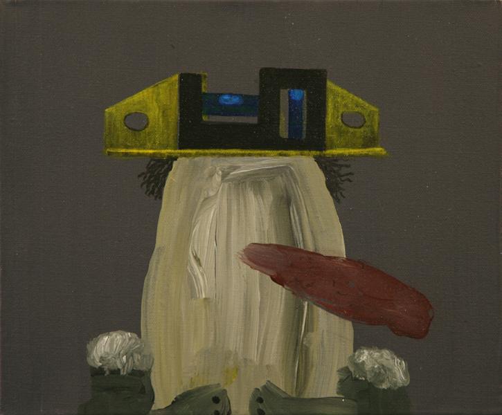 Balanced Spanish Civil Guard, 2008 Acrylic on canvas. 25'5x35,5cm