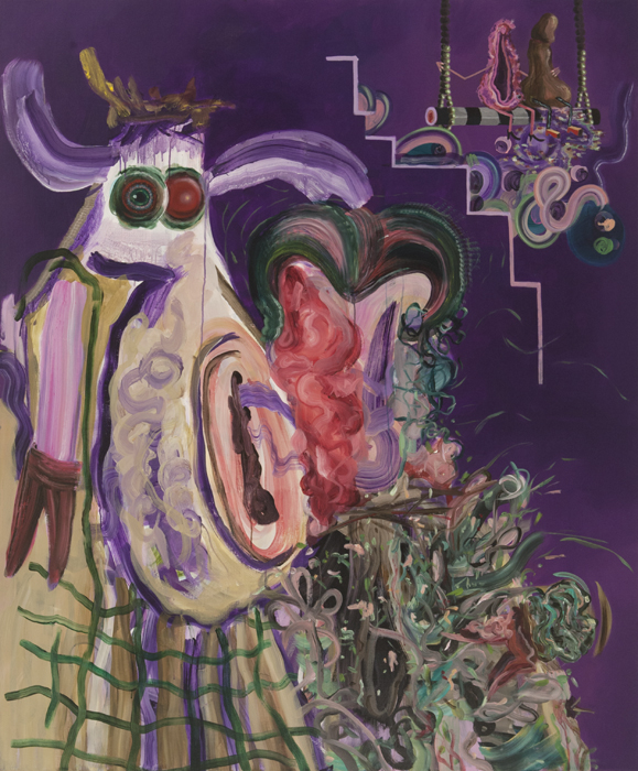 Possesive Cow, 2015 Acrylic on linen. 180x150cm