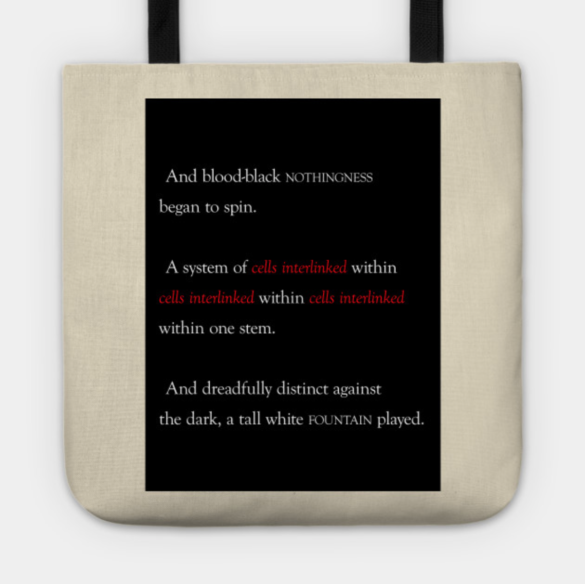 INTERLINKED (2019-STYLE) TOTE: $20/$17 Patrons