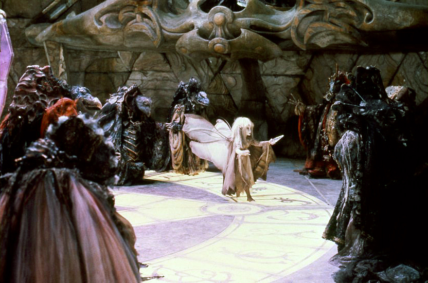 Kira swoops down to grab The Shard. The Dark Crystal 1982.