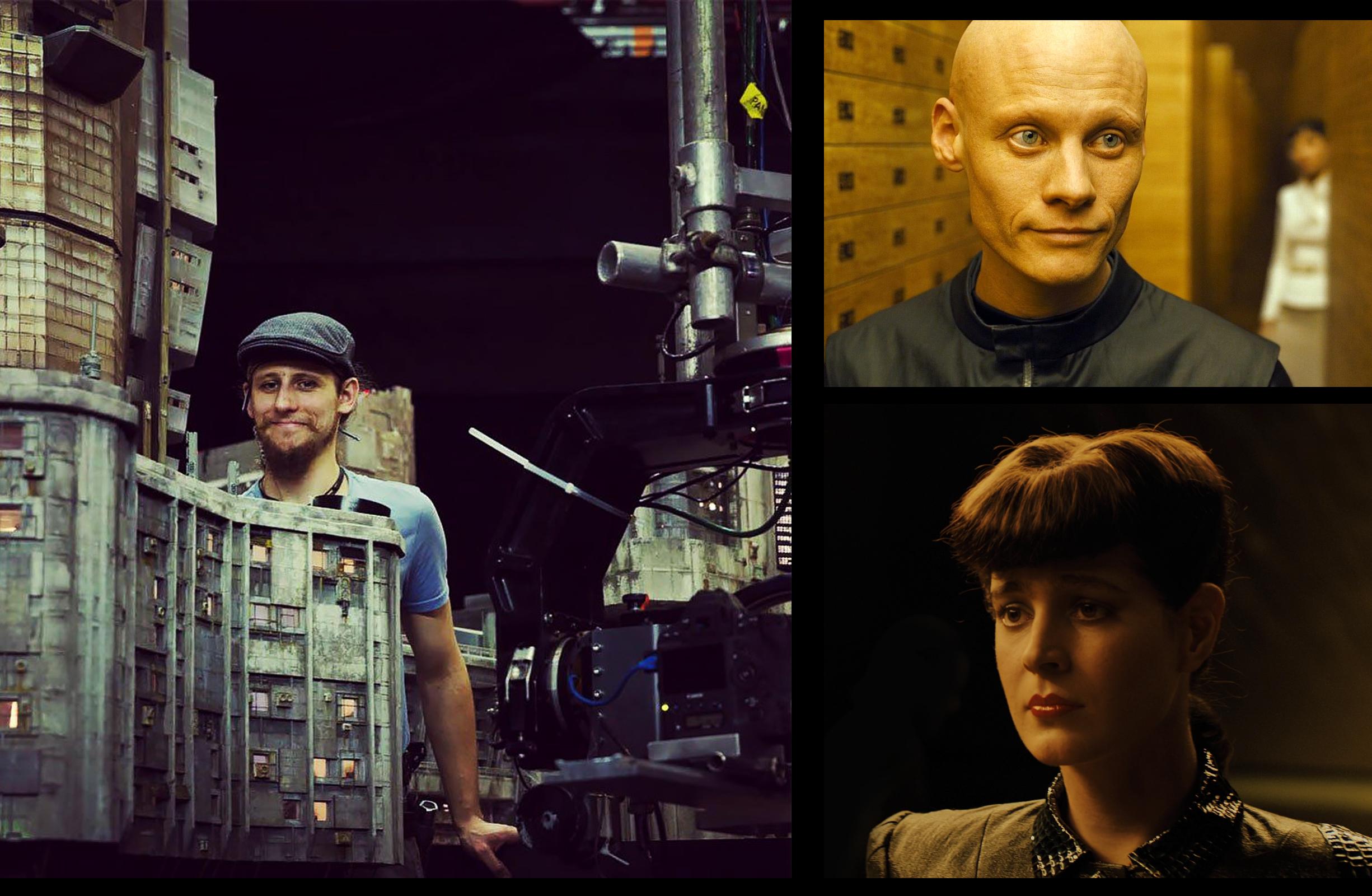 Chris Menges of Weta Workshop. Tomas LeMarquis. Loren Peta as Rachael 2.0.