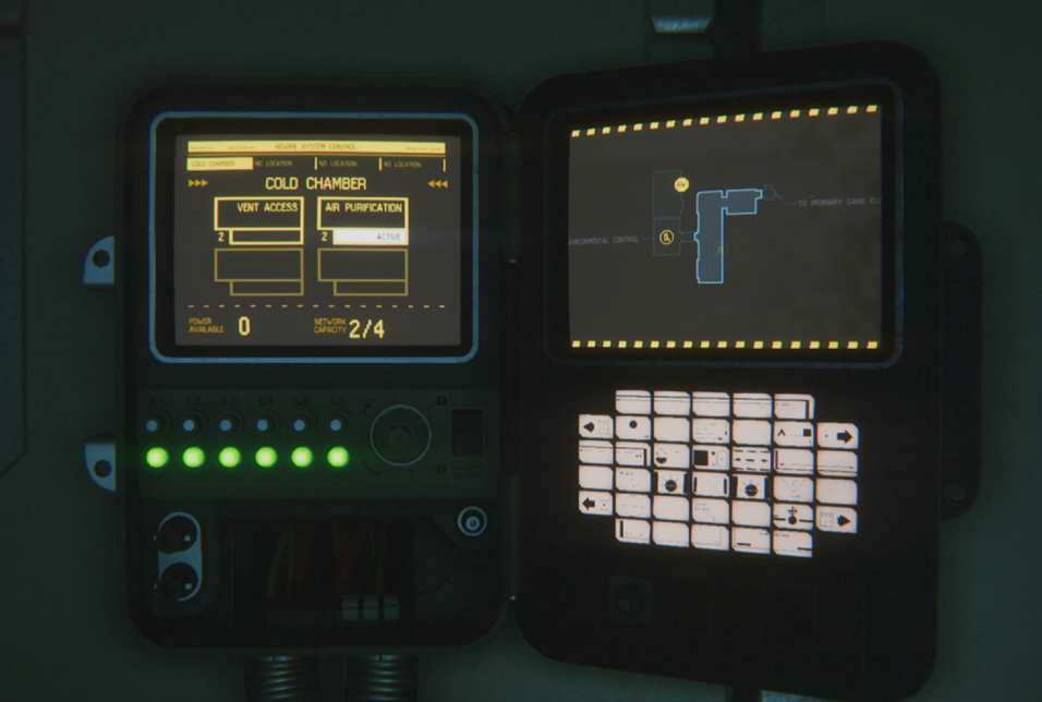 A rewiring sequence in Alien: Isolation