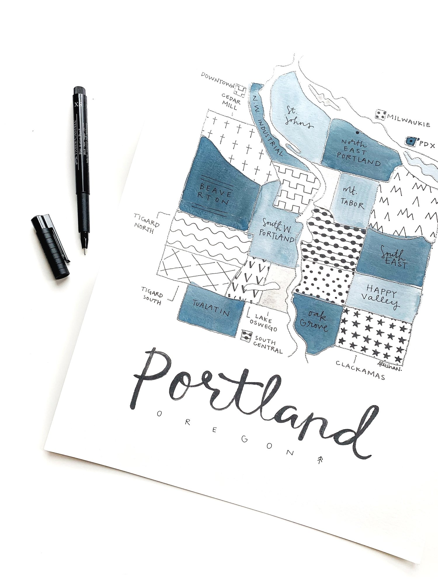 Portland, Oregon Neighborhoods Map