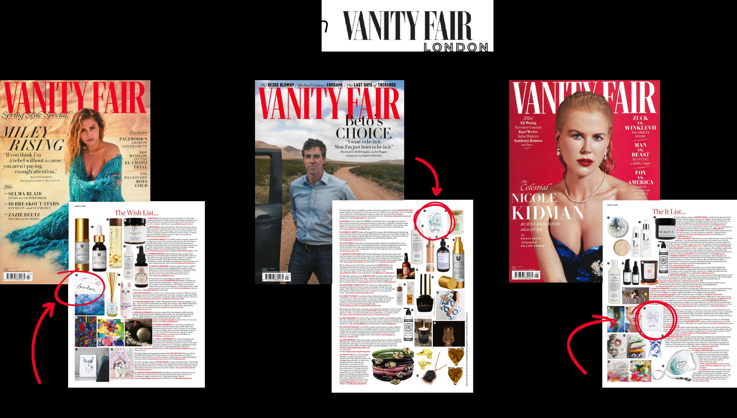 As Seen In Vanity Fair