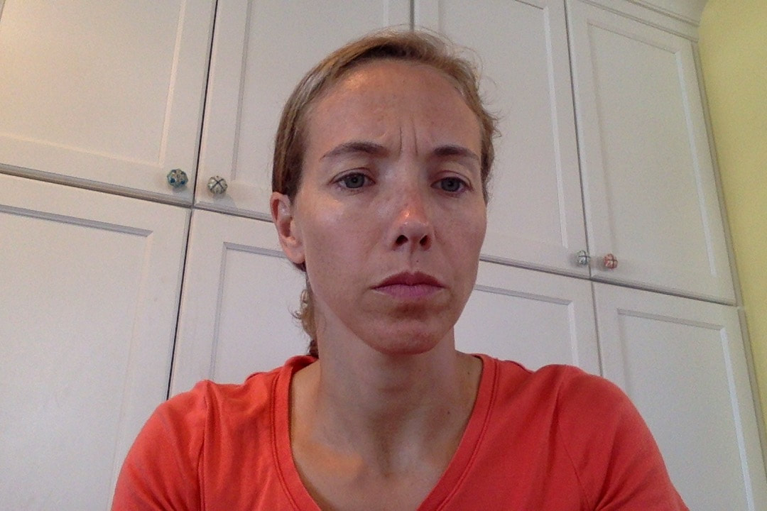 See my serious work face above and note wrinkles of consternation between my eyebrows!