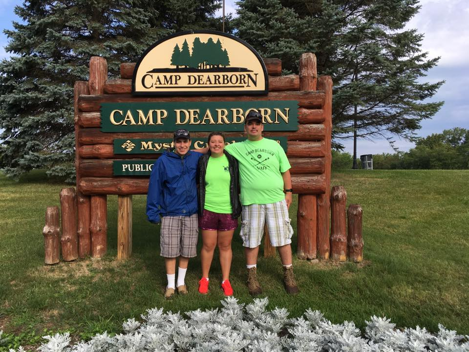 - Helping to Clean up Camp Dearborn in Milford Michigan.