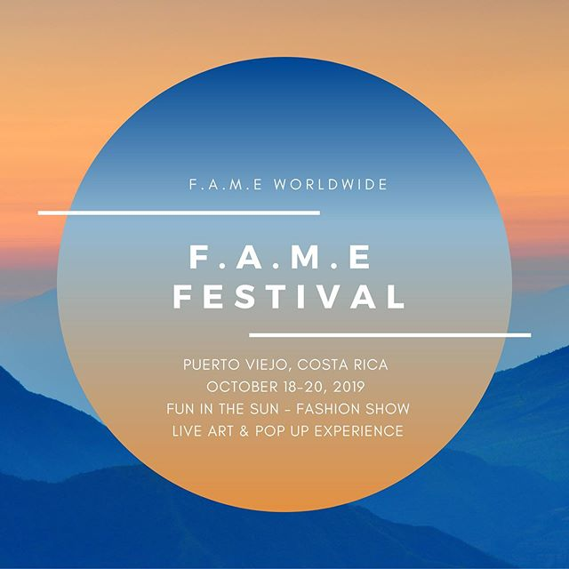 F.A.M.E Festival #PuertoViejo #CostaRica in collaboration with @secludedbeachhotel x @muurswagg will feature Fun in the Sun Activities - Fashion Show & Live Art during our Pop up Experience.  #TravelPackages from Oct 17-21 are set at $1k not including Flight. Contact @fame.worldwide for details. #travel #explore #expand #vacation #investmentopportunity #puravida #fameworldwide #fame #fashion #art #music #experience #popup #festival #festivals #costaricagram #supportsmallbusiness #supportlivingartists