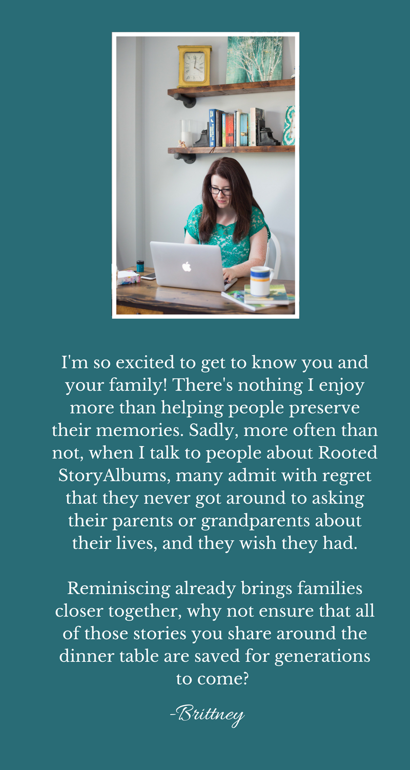 Write Your Own Biography | Family Legacy Albums | Family Legacy Books | Memory Books for Grandparents | Rooted StoryAlbums