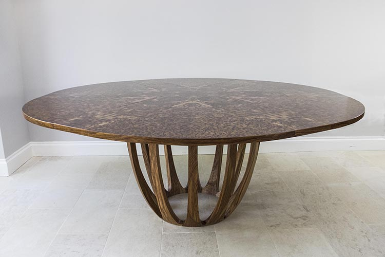 Brown oak expanding dining table 05.jpg