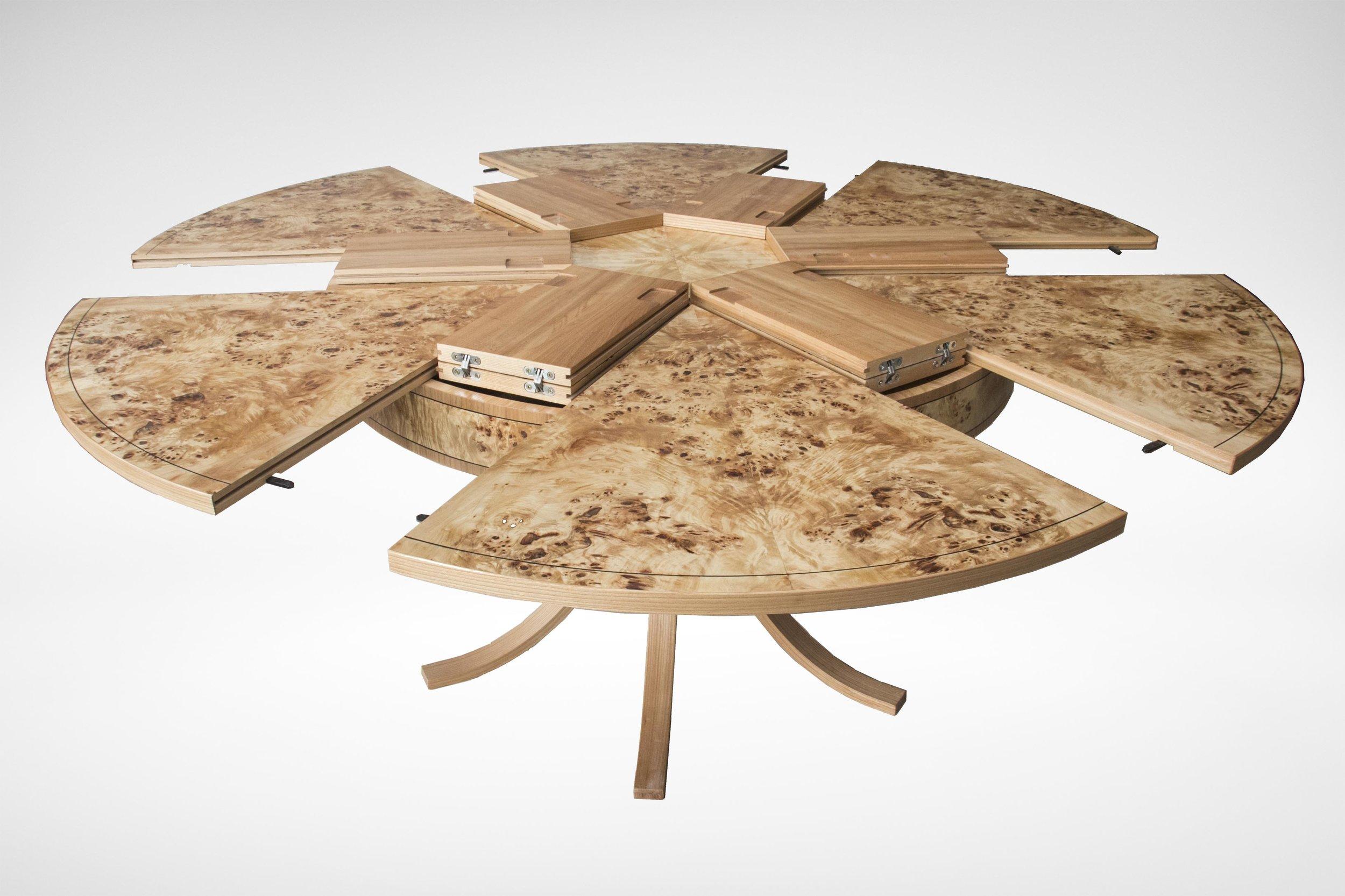 Johnson Furniture - Burr poplar and elm dining table 03.jpg