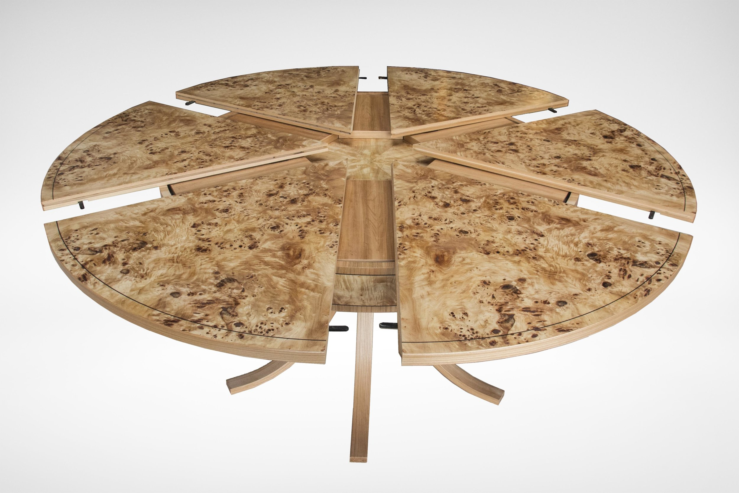 Johnson Furniture - Burr poplar and elm dining table 02.jpg