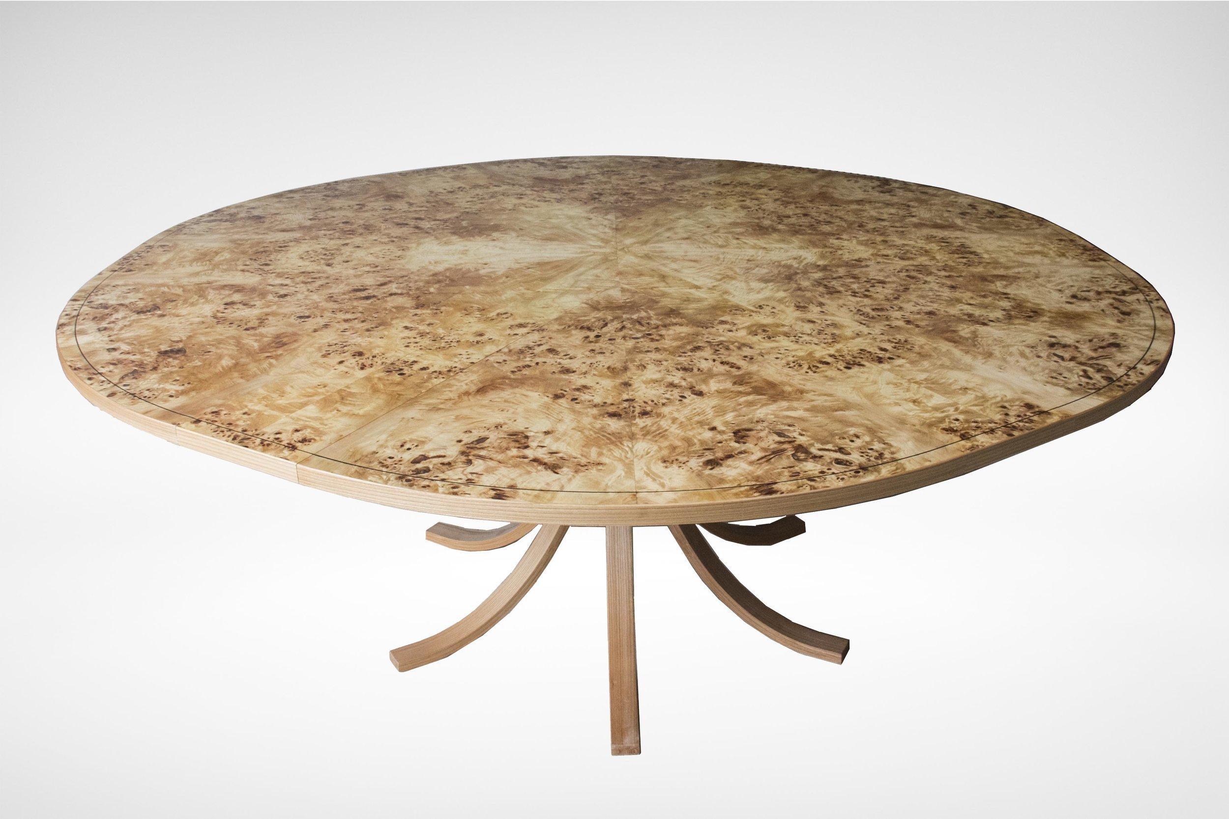 Johnson Furniture - Burr poplar and elm dining table 04.jpg