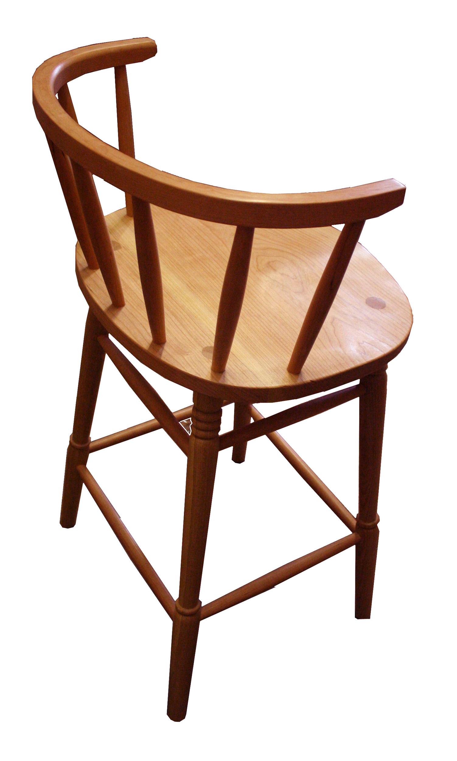 Bar stool in cherry