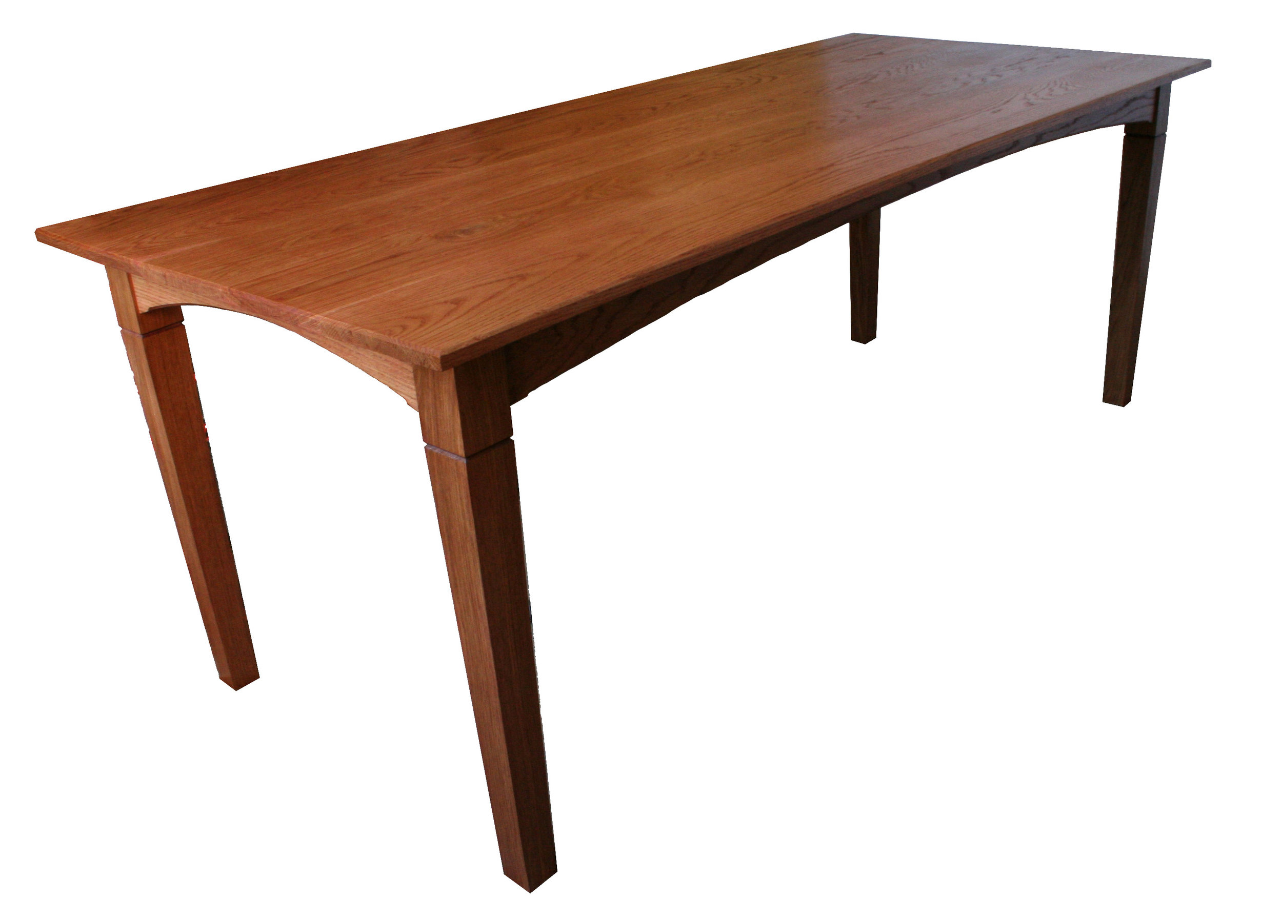 Dining Table in red oak