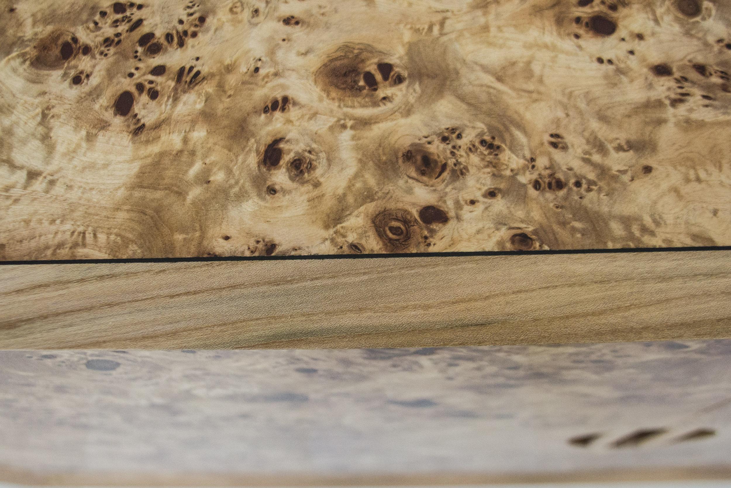 Burr Poplar and Elm Sideboard