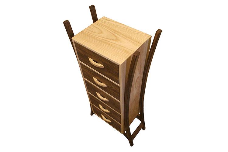 Ash and Fumed Oak Cabinet