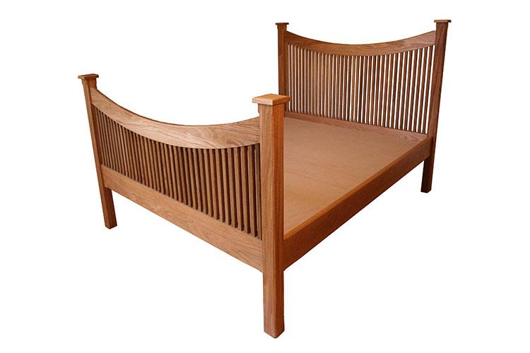 Oak and Fumed Oak Bed