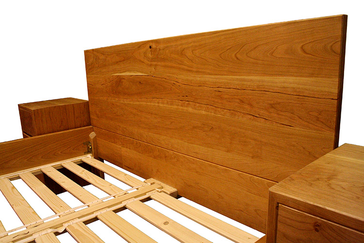 Cherry Bed and Cabinets