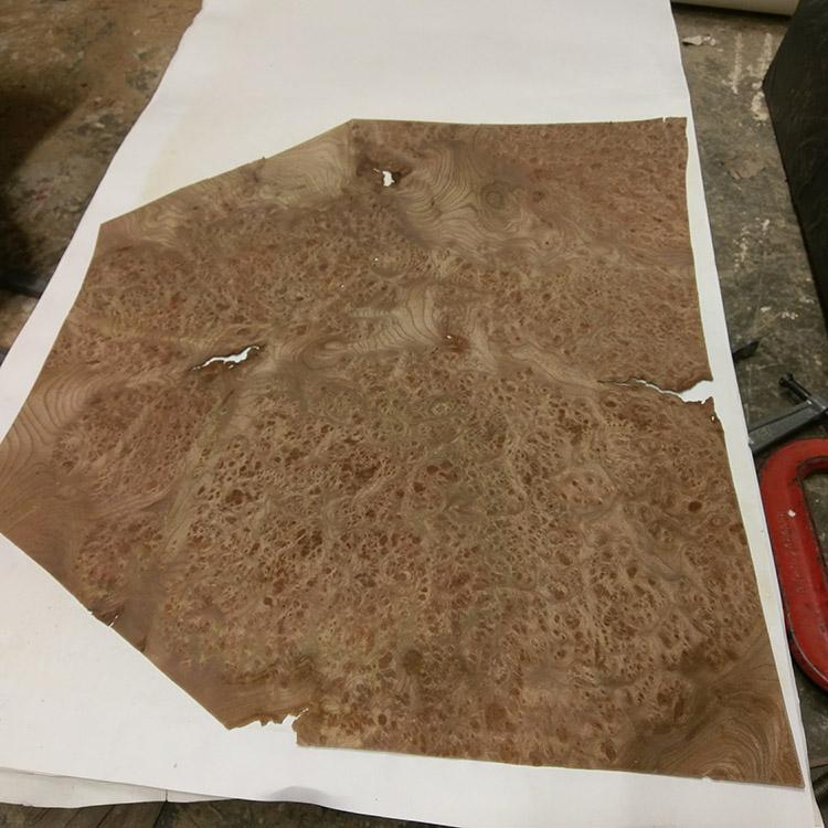 The veneer after flattening