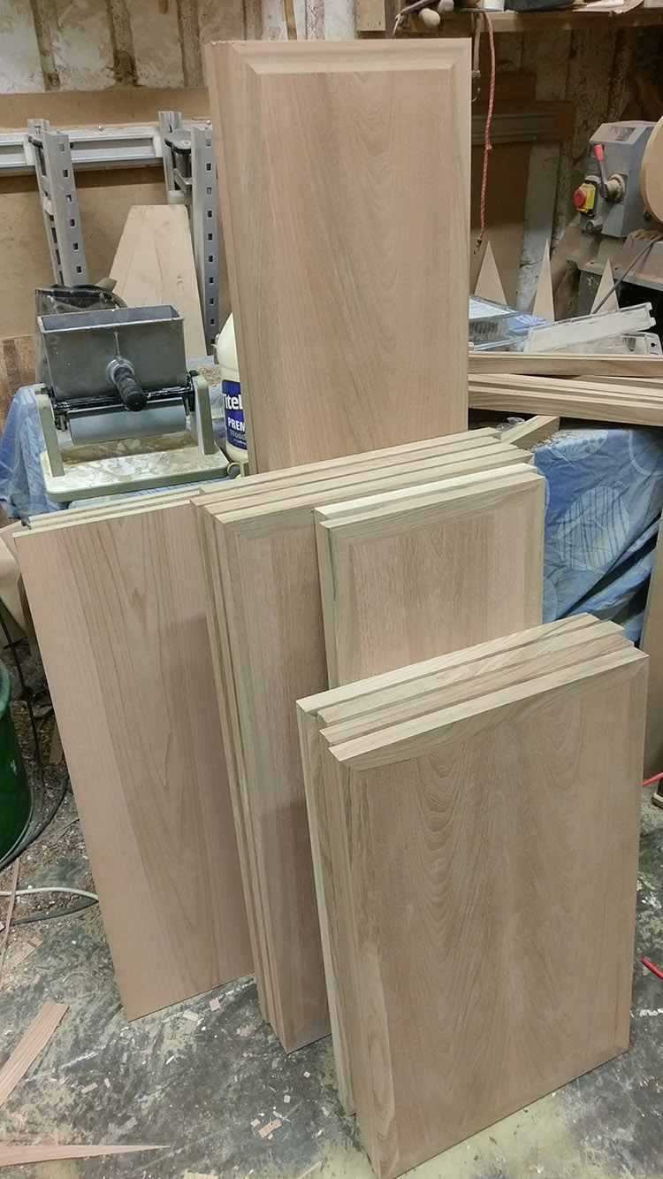 All the side panels glued together
