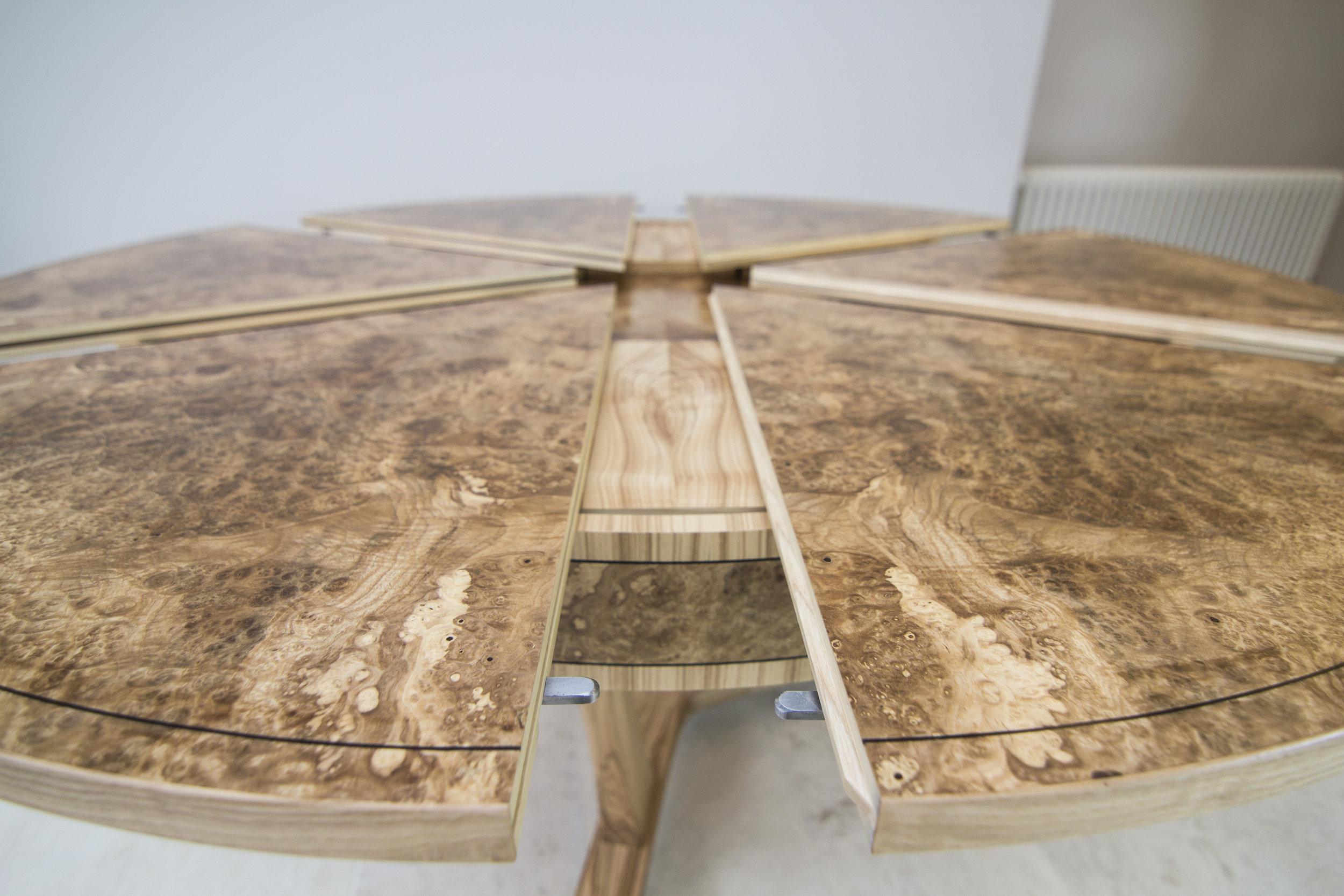 Burr ash expanding dining table 04.jpg