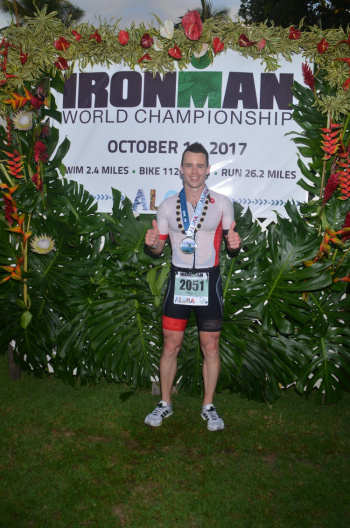 Windrush member Justin at Ironman world championships, Kona