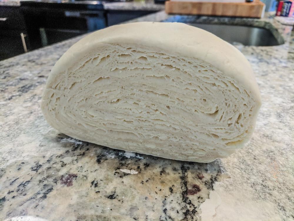 Dough laminations.