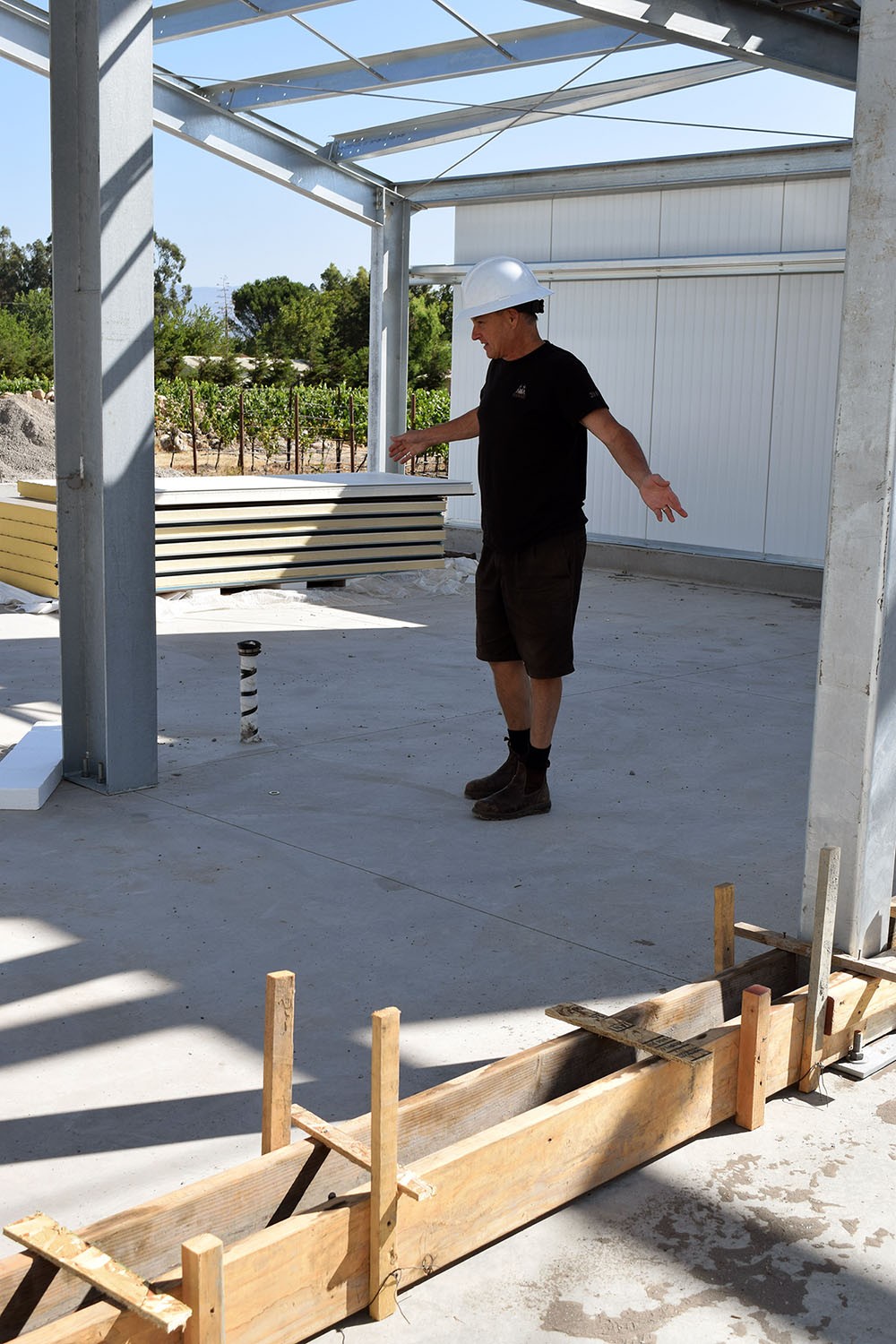 The new facility will offer Michael and his winemaking team a great space to produce wine
