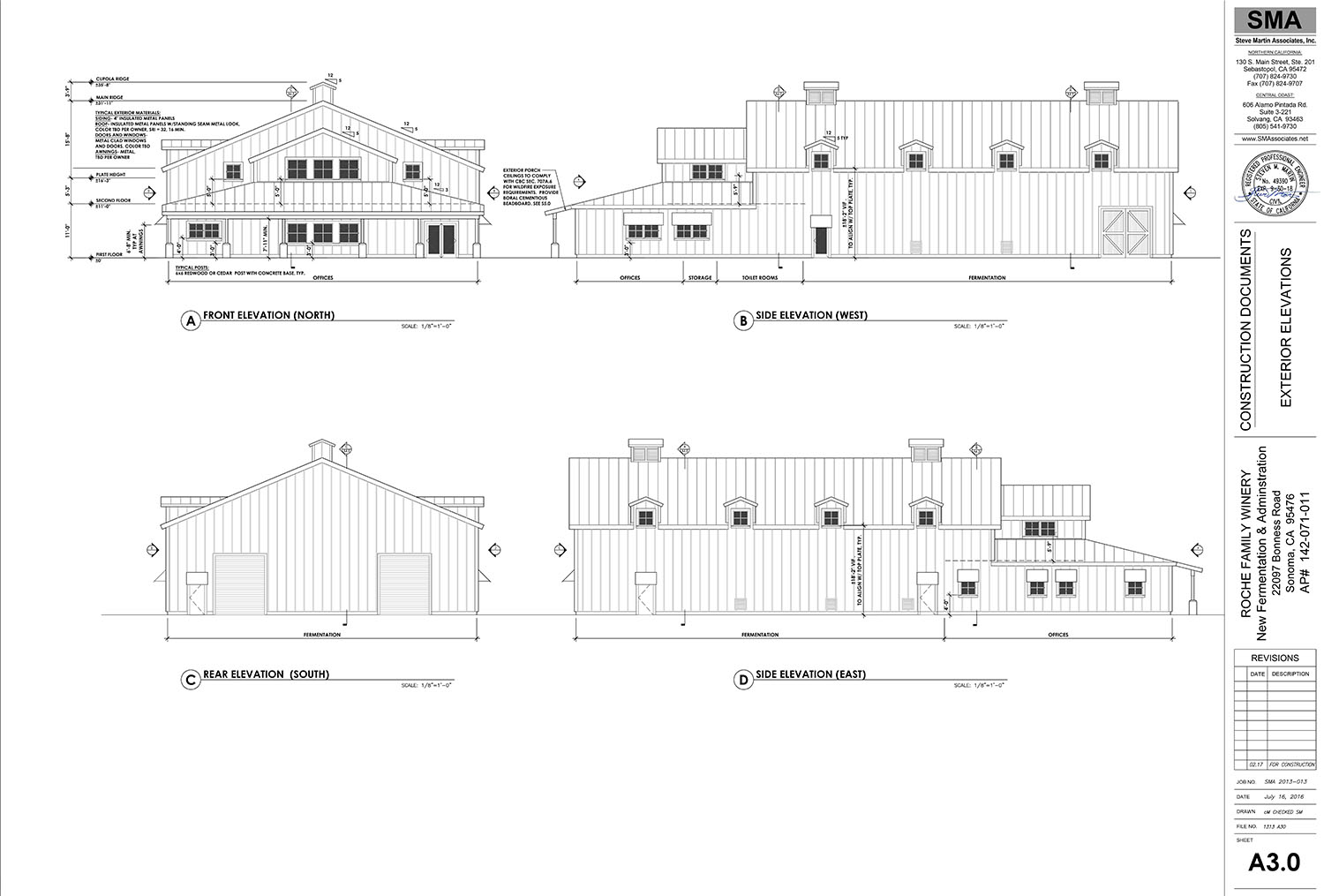 Construction will begin in 2017 on the winery's Administration/Fermentation Building as well as on the Barrel/Tasting Room Building
