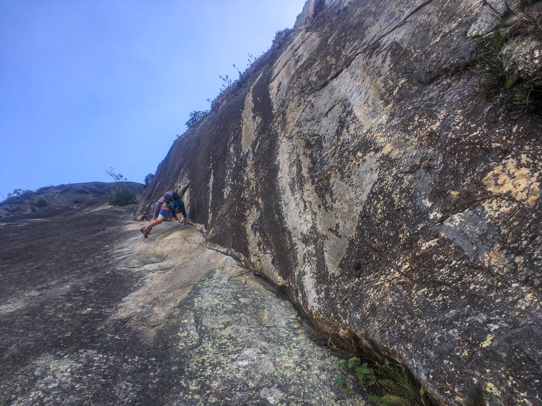 Escalada guiada no Corcovado, via K2, Rio de Janeiro