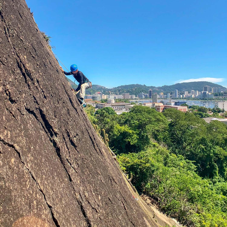 Guided rock climbing -