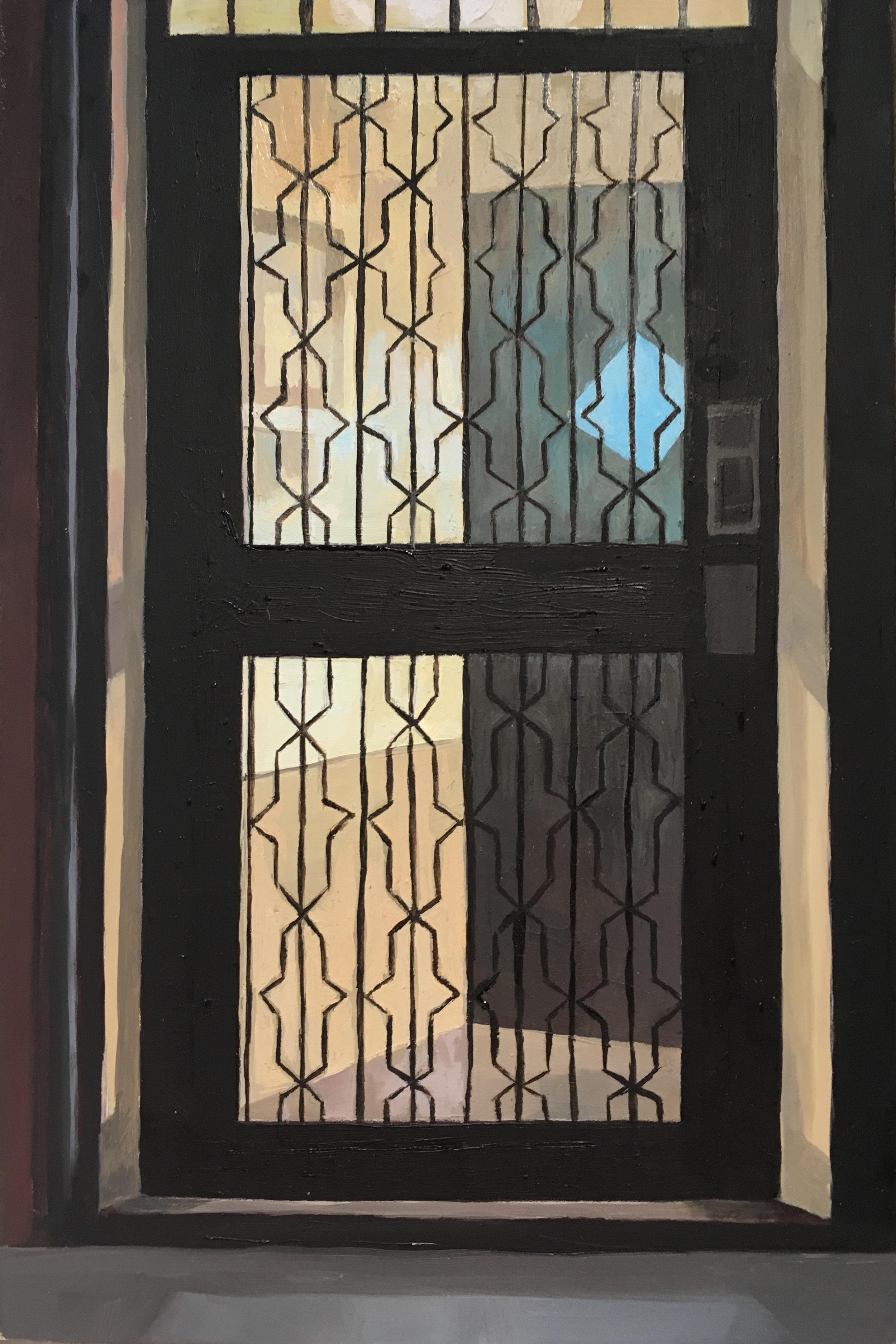 Winter Door  Oil on Wood  9 x 6