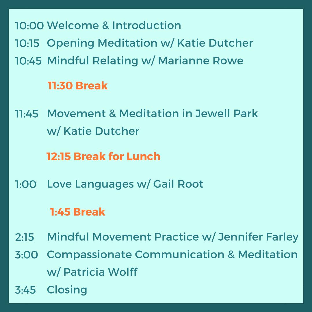 open studio schedule meditation