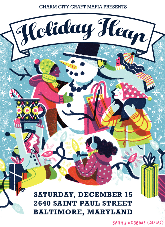 Come see me at Holiday Heap! - Looking forward to Charm City Craft Mafia's holiday art fair! Beth will be selling prints, zines, and original collages.