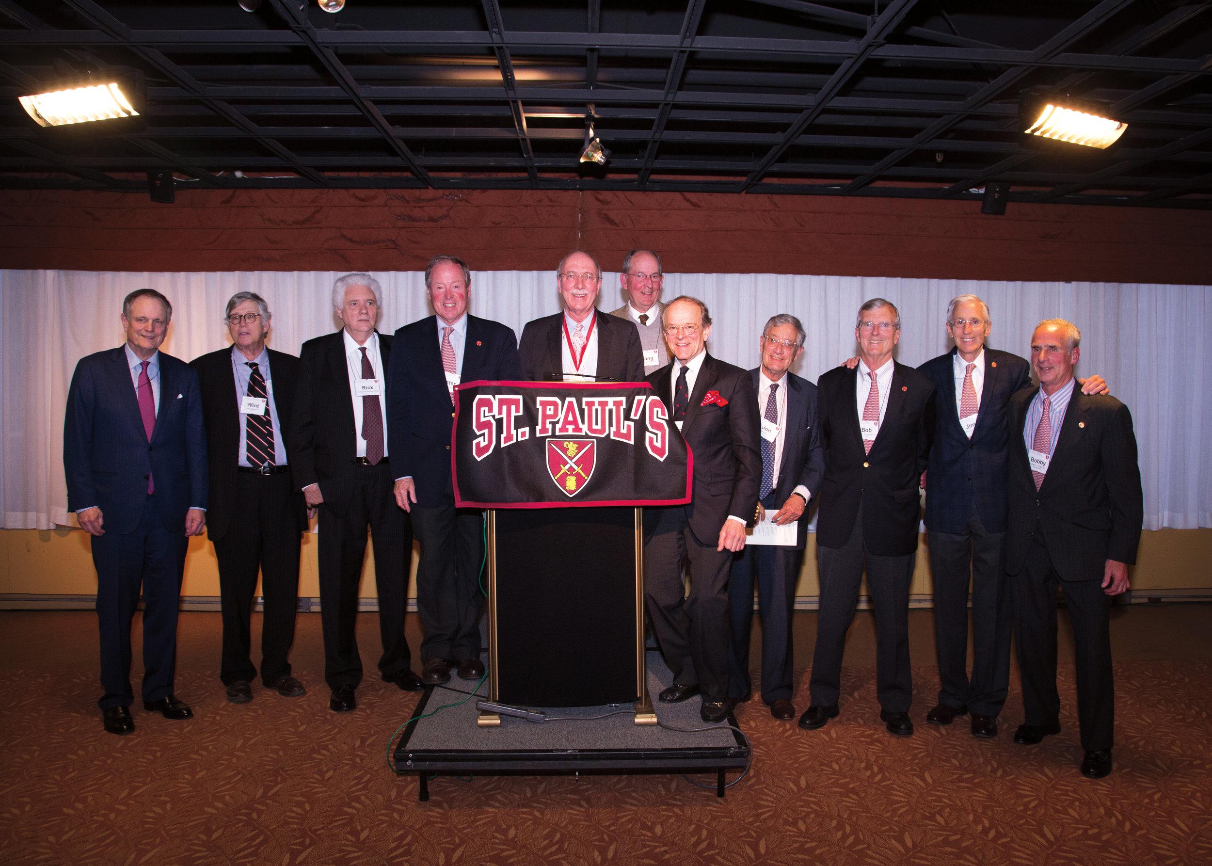 1961 Shattuck group at podium.jpg