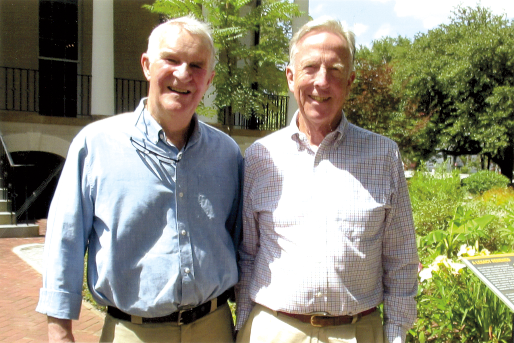 Jake Roak '55 (l.) visited Henry Shaw '55 in Columbia, S.C., before celebrating his 80th birthday in Asheville, N.C.