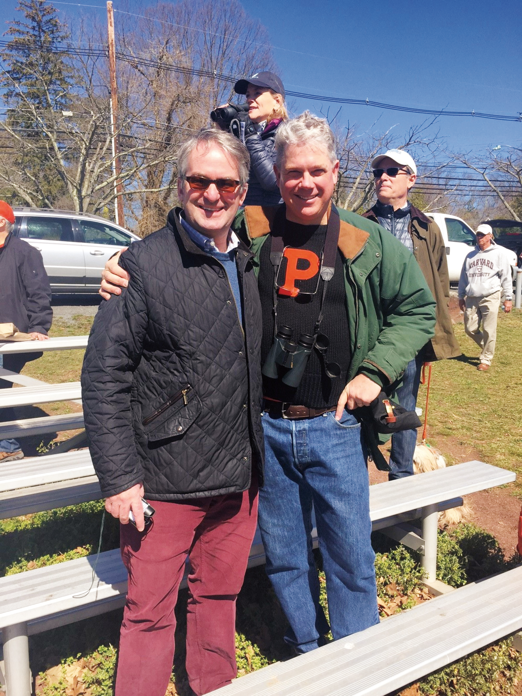 Carl Weatherley-White '81 (l.) and Peter Paine '81 at a Princeton v. Dartmouth crew race.
