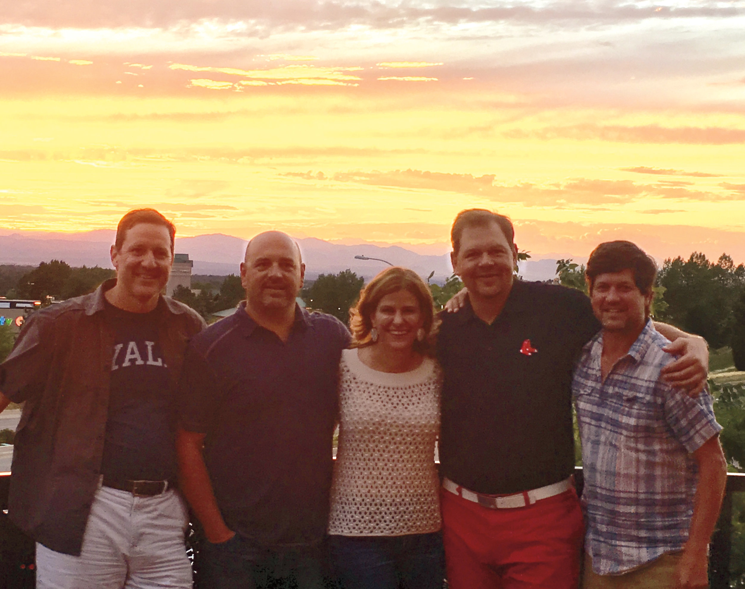 Members of the Form of 1989 in Colorado this summer (l to r.): Matt Bell, Brian Berlandi, Kate Gellert, David Kolojay, and David Leuthold.