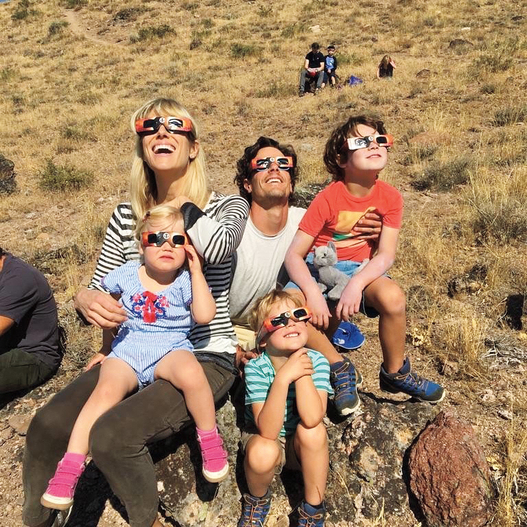 The highlight of the summer for Decker Rolph '95 was experiencing totality with his family in their backyard.