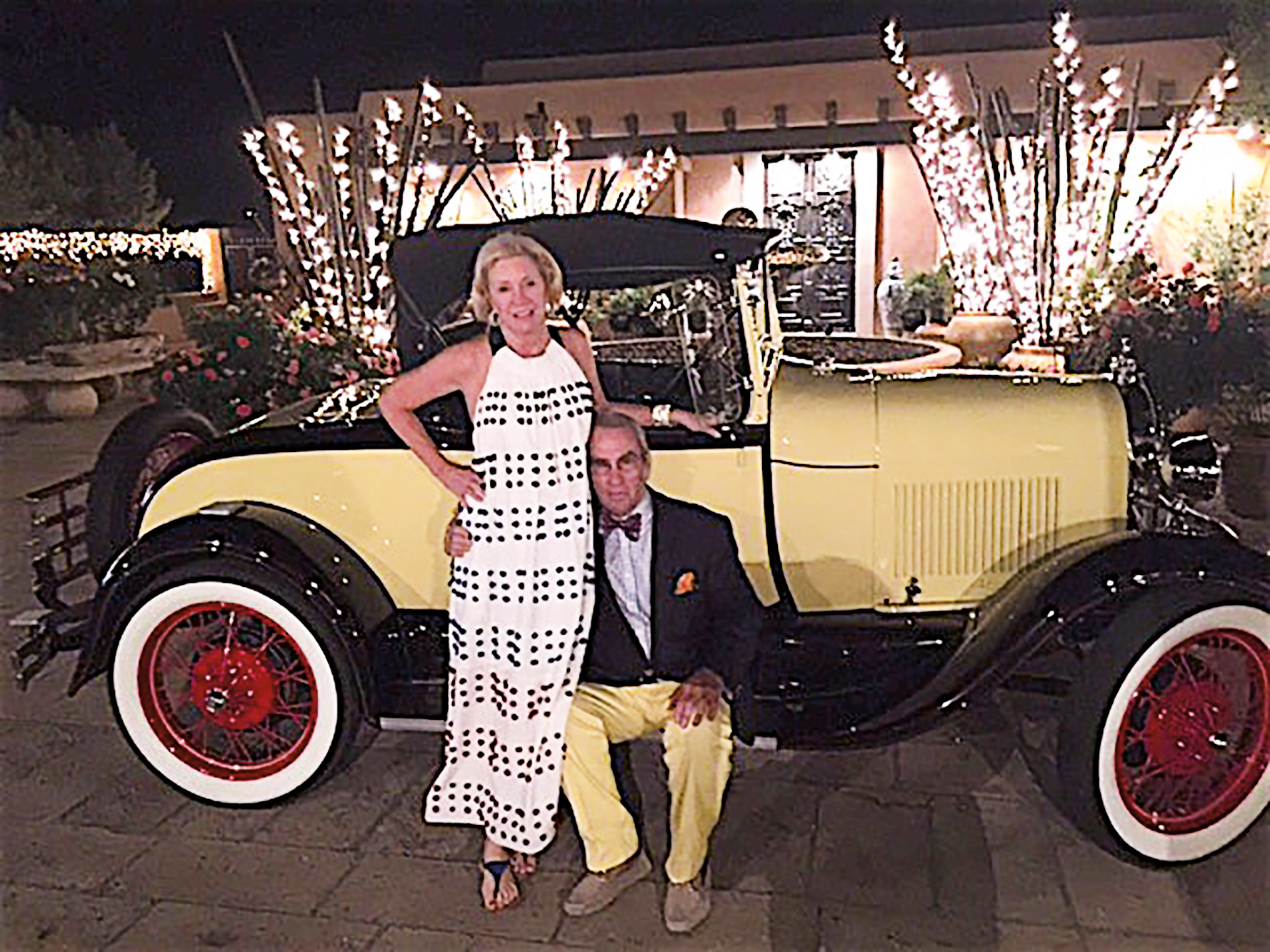 Ed Thorne '58 and wife Melanie in front of their fully restored Model A.