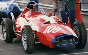 Griswold at Oulton Park Gold Cup in the UK with the Maserati 1957 250F V12 No. 2531.