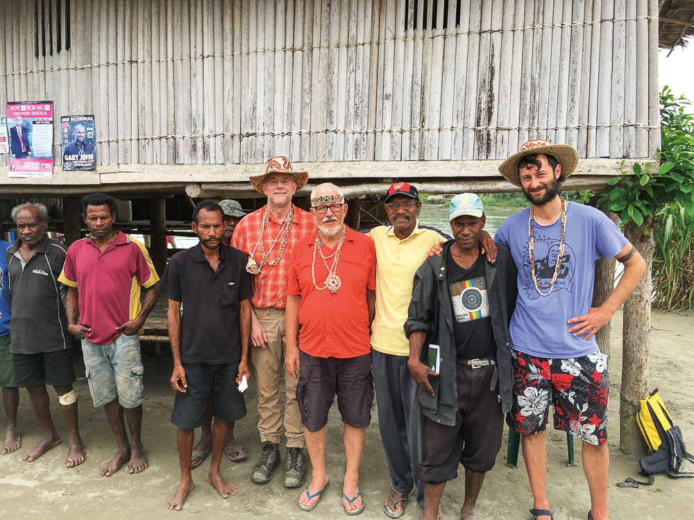 Locals from the village of Batari in Papua, New Guinea, welcomed Mike Prentice '73 during his work to map local costal carbon resources.