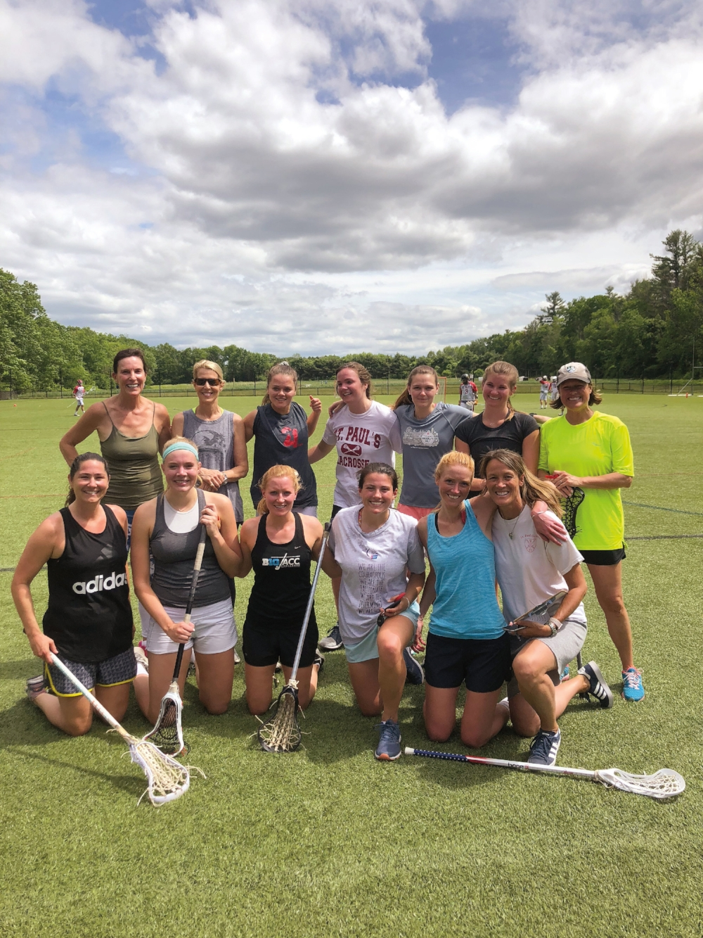 PARTICIPANTS: Meg Ford '03, Cynthia Day '85, Charlotte Ward '13, Julia Reiley '13, Finley Frechette '17, Tyra Clemmenson '10, Michaela O'Connor '13, Lisa Hughes '78, Lisa Kent Nitze '78, Emily Bresnahan '13, Hannah Hirsch-feld '14, Ashley Crutchfield '08, and coach Heather Crutchfield.