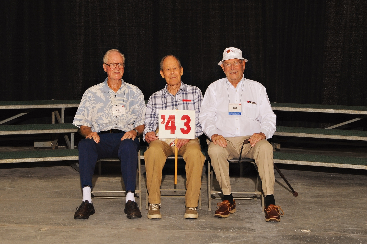 (L. to r.): Win Shiras, Norm Walker, and Kit Kittredge.