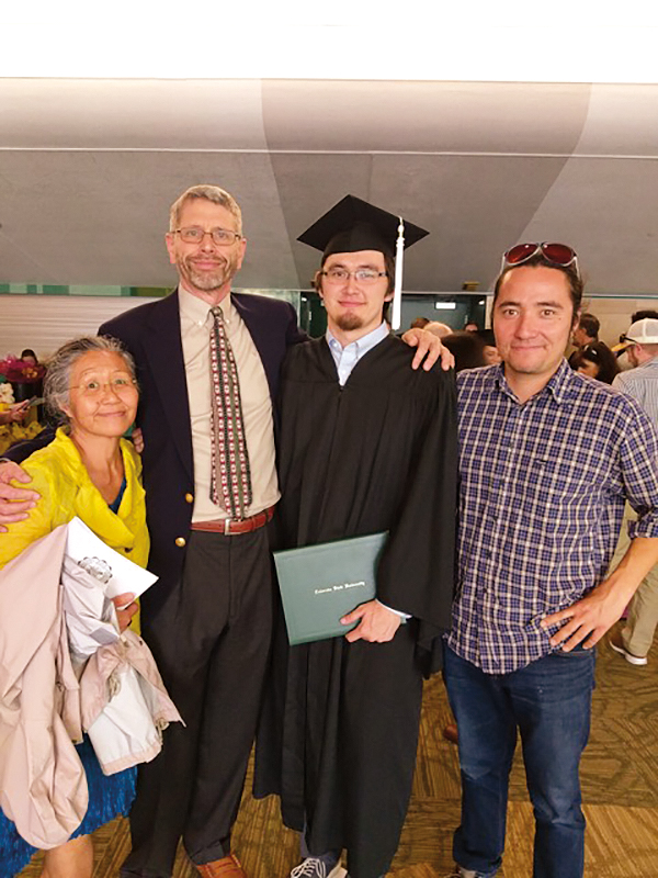 Dierk Groeneman '72 and family at his son's graduation.