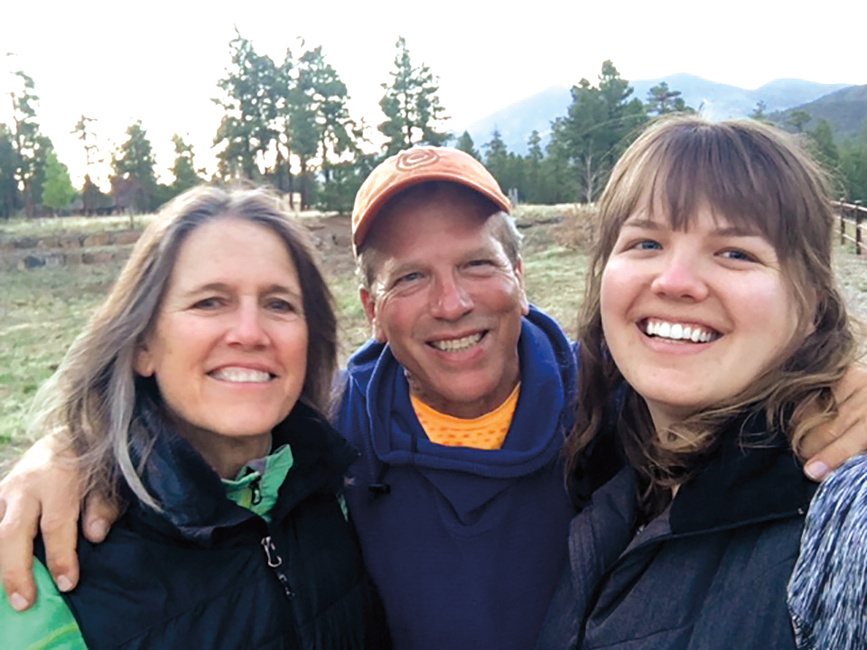Alexis Johnson '76 with his wife, Amy (l.), and daughter, Emily (r.), in Flagstaff, Ariz.