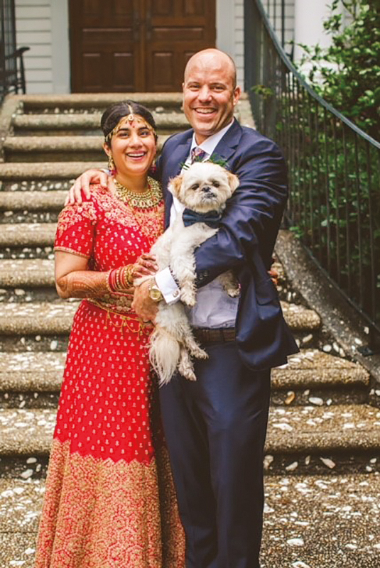 Gray Hummel Harley '90 married Nehal Mohan Beltangady in Pawleys Island, S.C., in May.