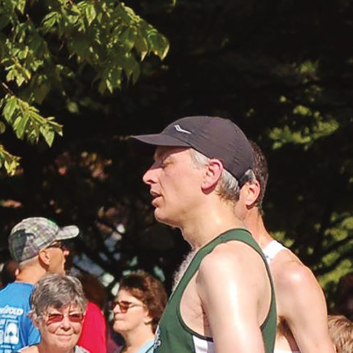 Jeff Townsend '90 after taking home the USATF 20K National Title (Master Division) in New Haven, Conn.