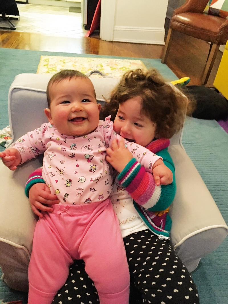 Maxine (l.) and Ruby Liebman (r.), daughters of Kimiye Corwin Liebman '94 and Jesse Liebman.