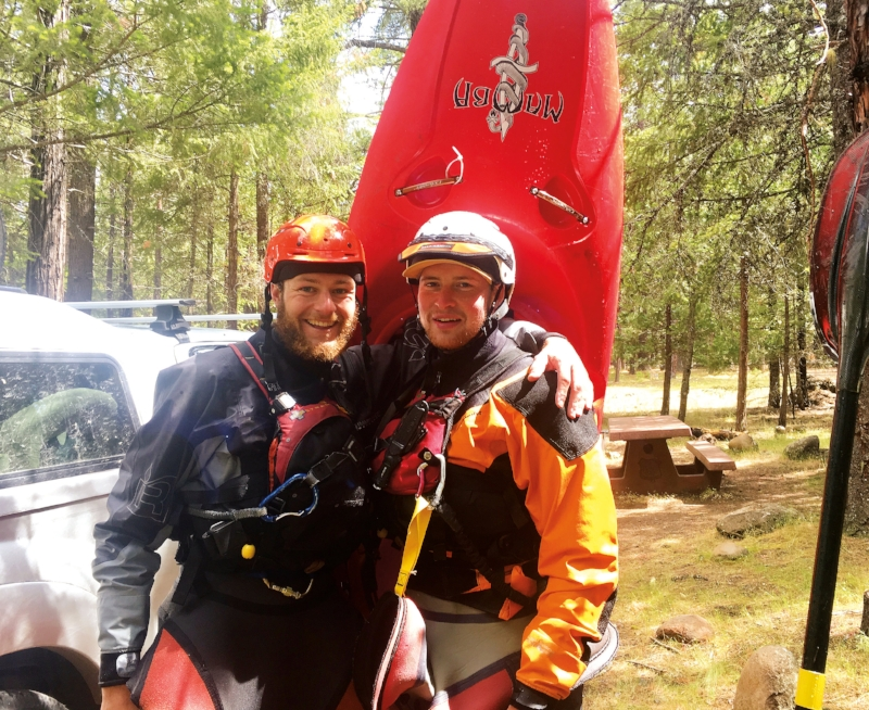 Tom Whipple '11 and Brendan Brown '11 took on the entire length of the Metolius River in central Oregon.